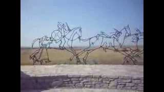 The Indian Memorial Peace Through Unity sculpture at the Little Bighorn Battlefield
