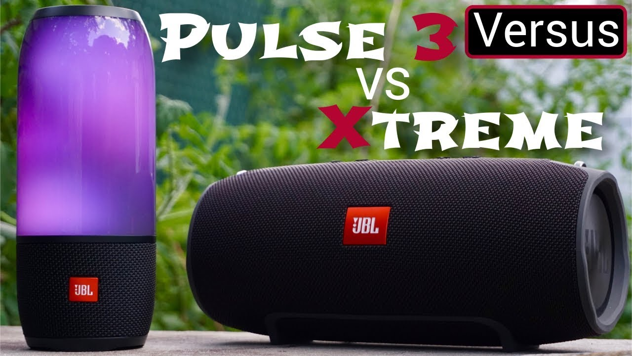 jbl pulse 3 vs jbl xtreme david vs goliath youtube. Black Bedroom Furniture Sets. Home Design Ideas