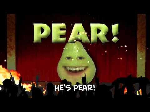 Annoying Orange - Pear Theme Song with lyrics!