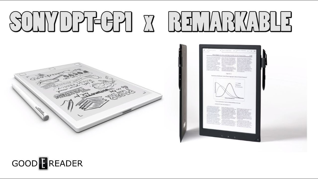Kindle Vs Sony Reader: Sony DPT CP1 Vs Remarkable Comparison