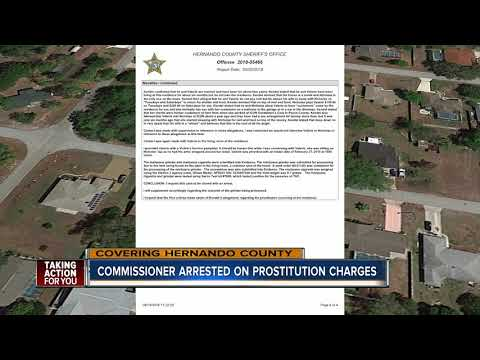 Hernando County Commissioner arrested on prostitution charges