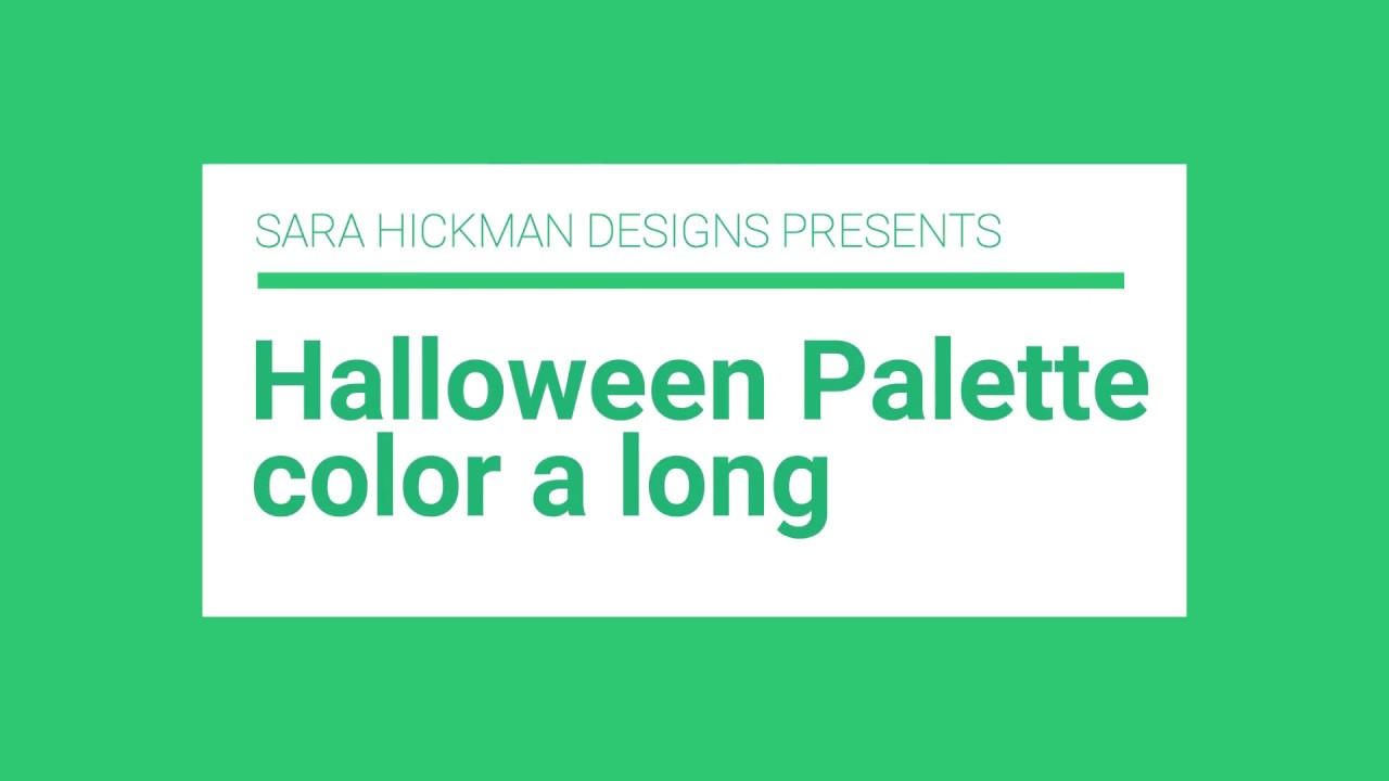 Speed Coloring: Halloween Color Palette - YouTube