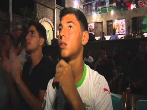 غزة تحتفل بفوز الجزائر في المونديال