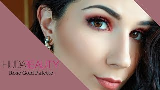 HUDA BEAUTY Rose Gold Palette MakeUp | Andreia Sofia MakeUp Artist
