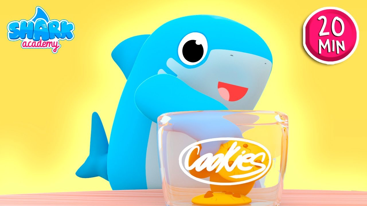 Shark Academy - Who took the cookie from the cookie jar with Shark - Baby Shark Song for Kids