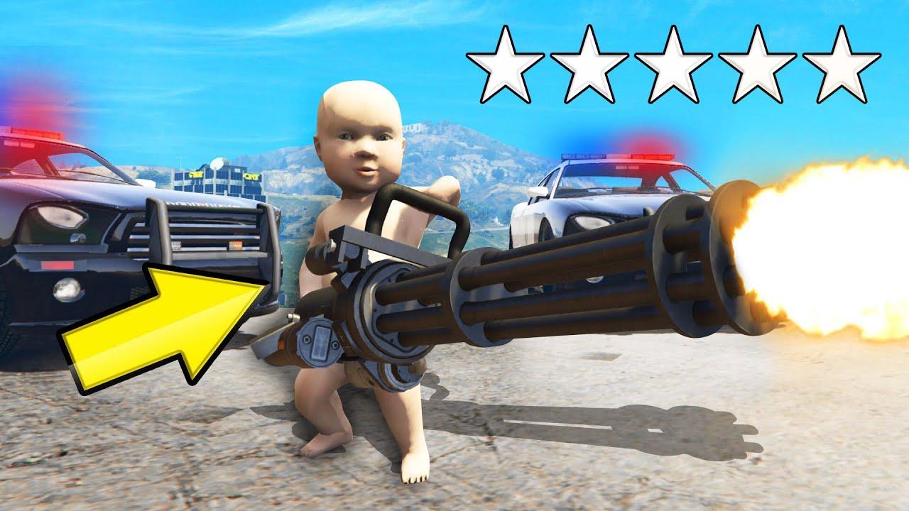 Playing GTA 5 As A BABY! (GTA 5 Mods) thumbnail