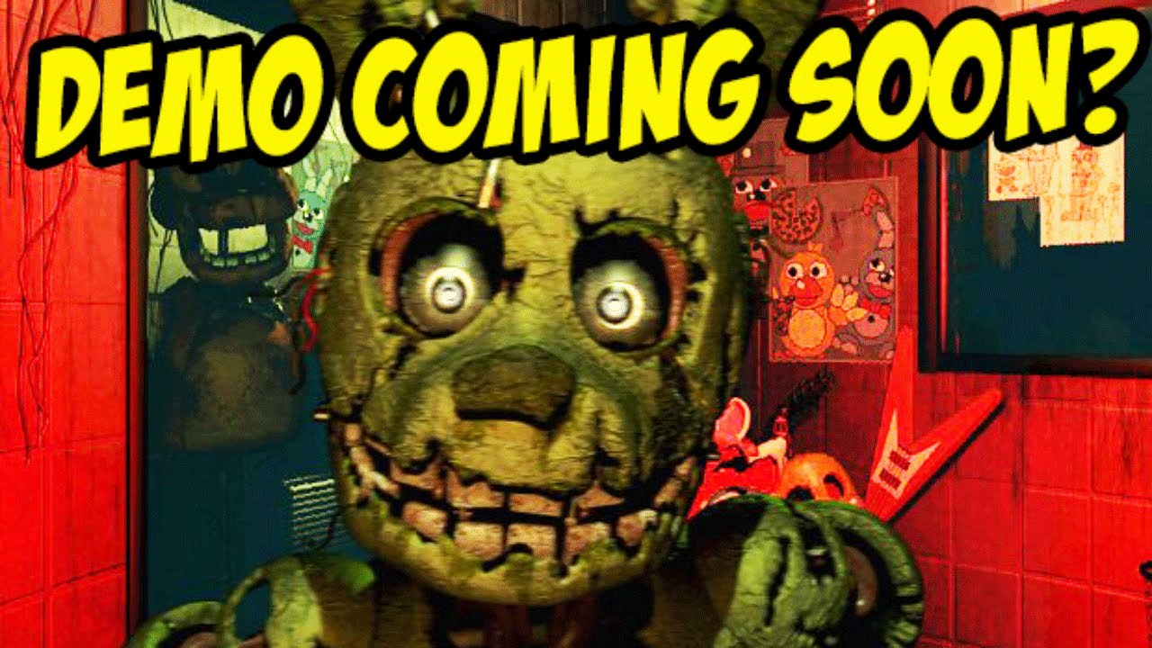 Five nights at freddys 3 demo coming soon youtube