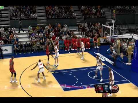 NBA 2k10 PC Gameplay 1991-92 Season Mod by aloncho11- (Bulls @ Knicks) Part 1