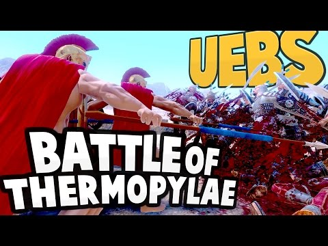 UEBS - 300 SPARTANS vs XERXES! Recreating the Battle of Thermopylae - Ultimate Epic Battle Simulator
