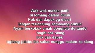 Repeat youtube video W.A.R.I.S ft Dato Hattan- Gadis Jolobu (LIRIK)