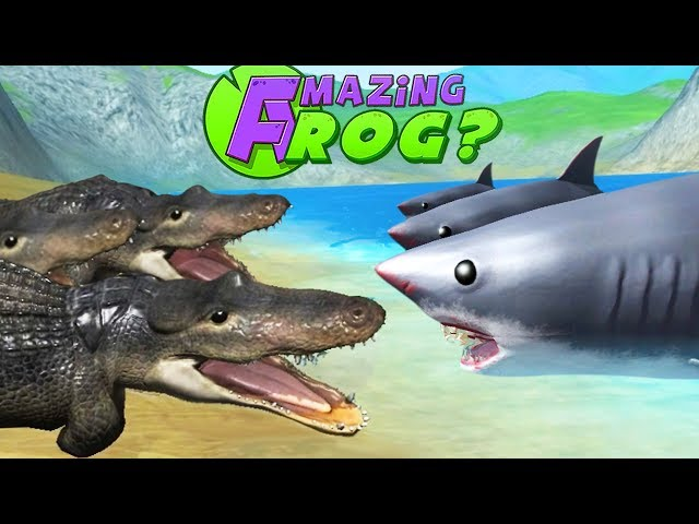 NEW ALLIGATORS vs SHARKS - Amazing Frog Part 173 | Pungence