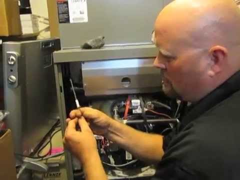 lennox furnace ignitor. diy - how to change a 52w29 flame sensor on lennox g71 furnace youtube ignitor