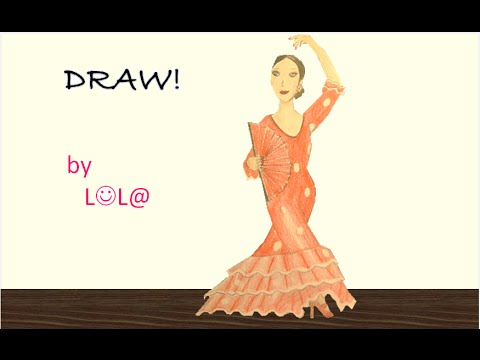 Tuto 10 dessiner une danseuse de flamenco youtube - Dessiner une danseuse ...