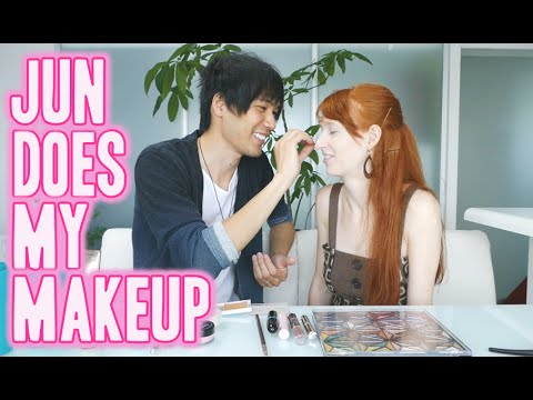 Husband does my makeup 夫にメイクしてもらった
