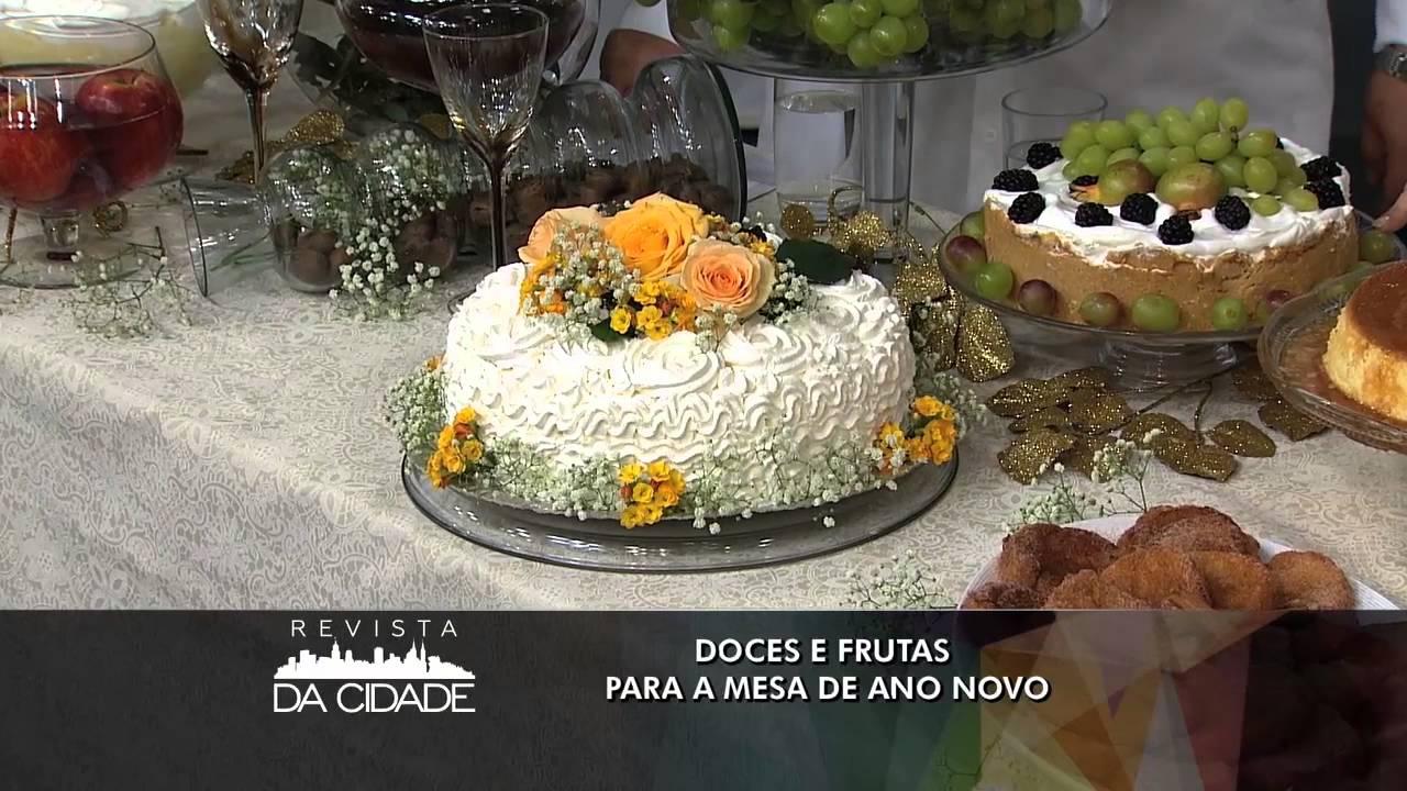 Revista da Cidade Doces e frutas para a mesa de ano novo (31 12 15) YouTube -> Decoraçao Com Frutas Para Ano Novo