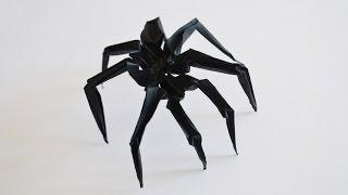 Паук из бумаги. Оригами. Spider out of paper. Origami.(Делаем очень эффектного паука из бумаги! Он получается как живой)))) Не отличить от настоящего!!!, 2016-09-04T18:21:23.000Z)