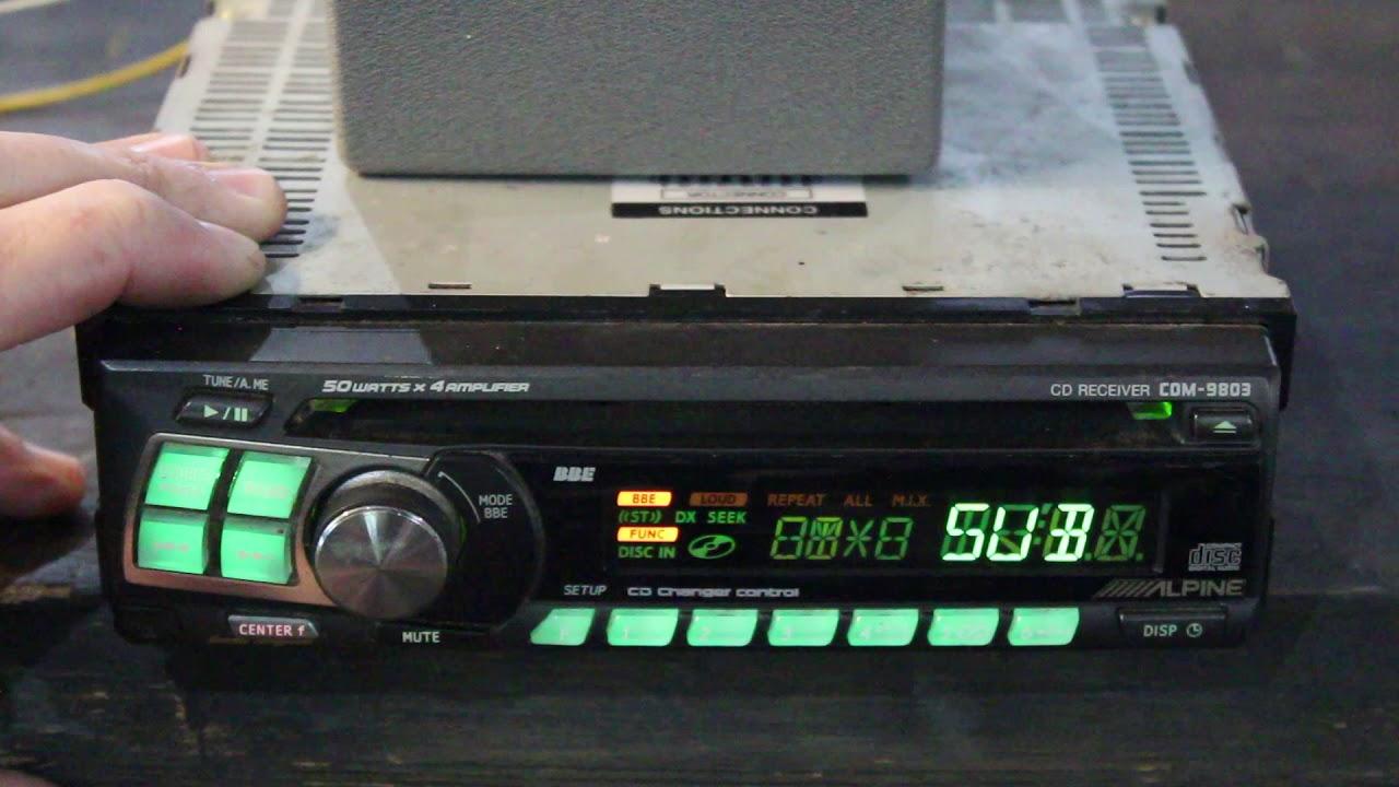 alpine deck radio head unit receiver cdm 9803 youtube rh youtube com Alpine CDM 7861 Manual Alpine CD Player
