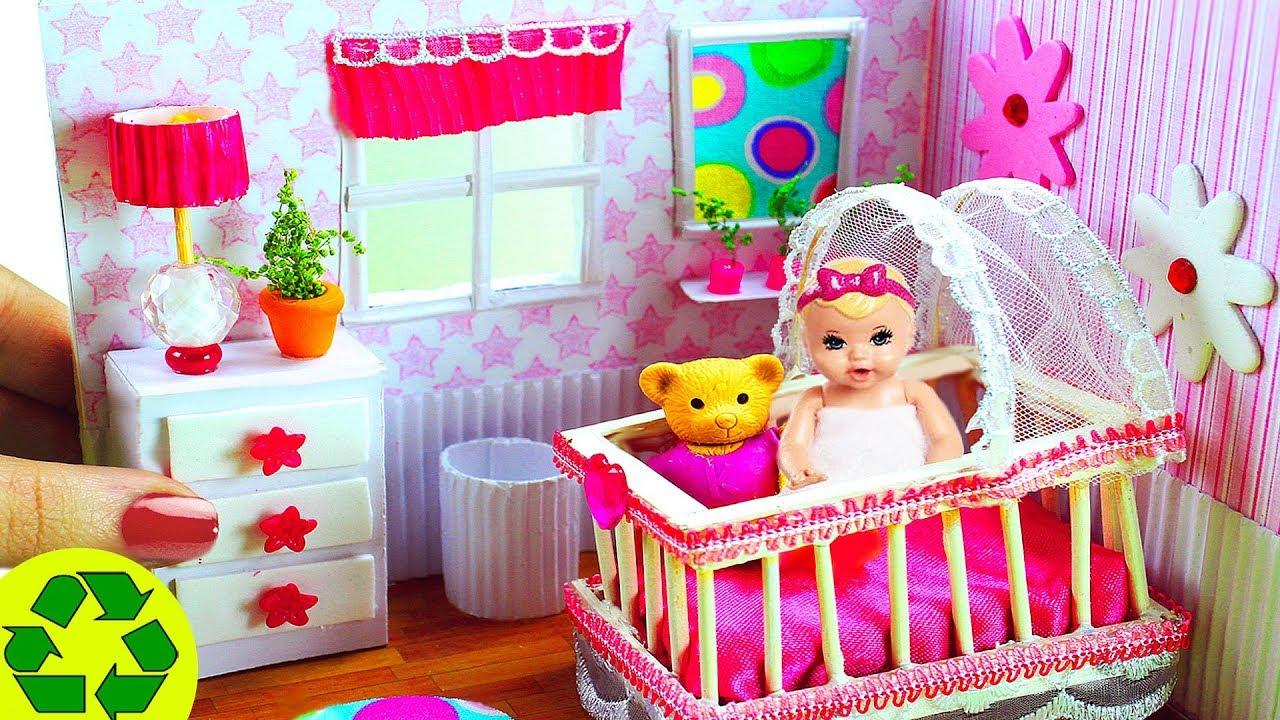 DIY Cuarto / Dormitorio en Miniatura para bebé 100% original y hecho a mano