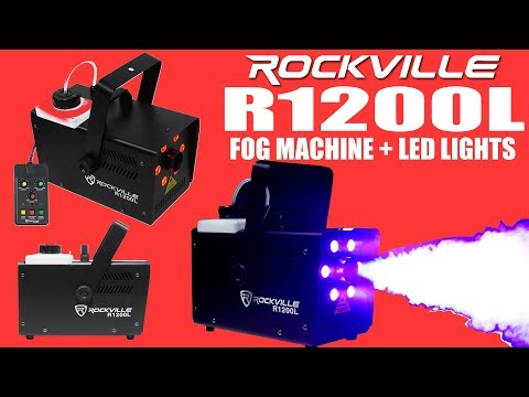 The Rockville R1200L Fog Machine With LED Lights and Pyro Effect (Demo)