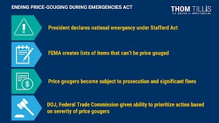 What is the Ending Price Gouging During Emergencies Act?