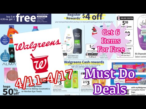 WALGREENS MUST DO DEALS + SPEND BOOSTER SCENARIOS | 6 ITEMS FOR FREE