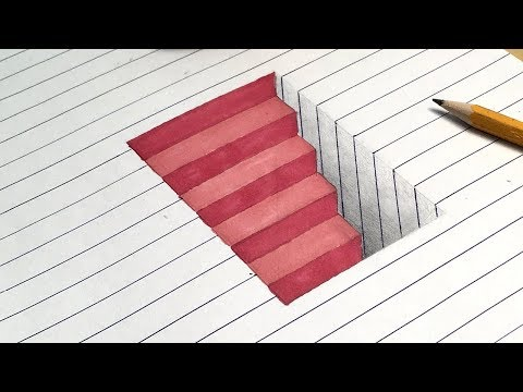 How to Draw My Favourite 3D Drawing Illusions. 3D Anamorphic Trick Art