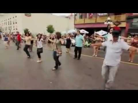 Dancing Zorbas in street