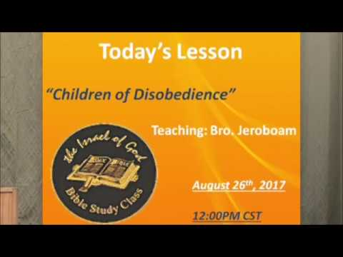 "IOG Minneapolis - ""Children of Disobedience"""
