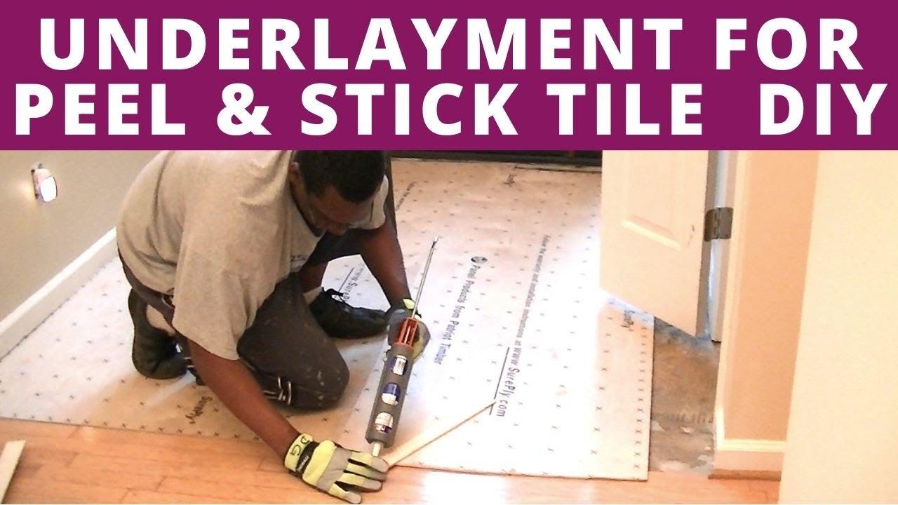 underlayment for peel stick vinyl diy sureply plywood