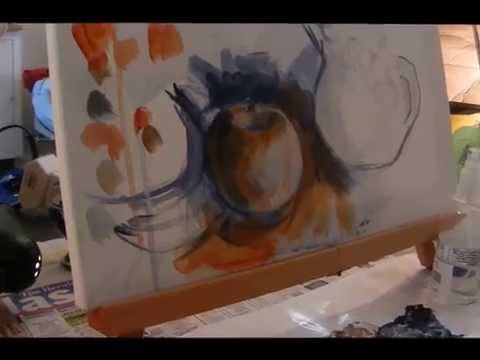 How to...plan and start a painting using verdacchio and only 3 colours