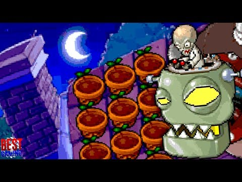 Plants vs. Zombies DS Walkthrough - World 5 Guide (Roof, Zomboss Final Boss Fight)