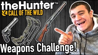 Hunter Call of the Wild WEAPONS CHALLENGE!!! - Kendall Gray
