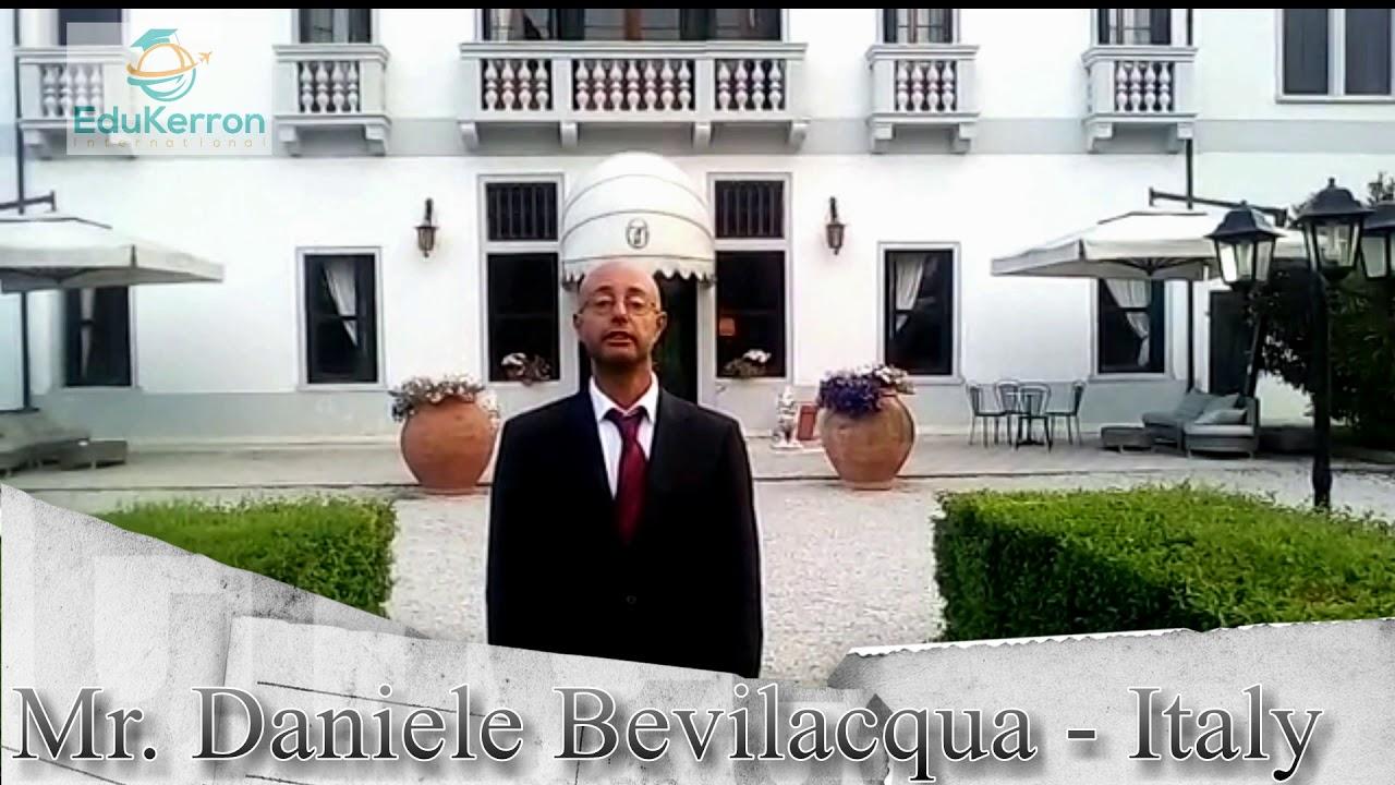 Mr  Daniele Bevliaequa -Italy