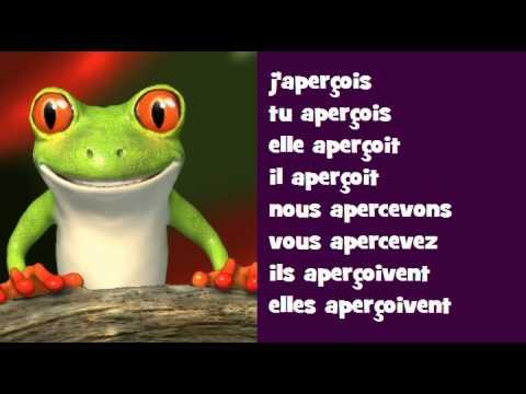 Conjugaison Musicale Indicatif Present Verbe Apercevoir Youtube
