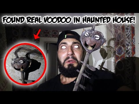 FOUND 200 YEAR OLD SCIENTIST HAUNTED HOUSE IN THE WOODS (VOODOO DOLL INSIDE)