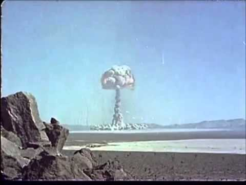 Nevada Atom Bomb Test - Colour Footage of Mushroom Cloud