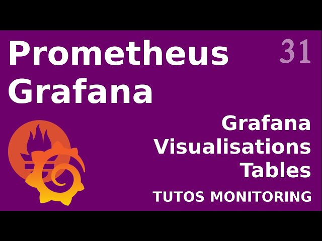 GRAFANA - 31. VISUALISATION : LES TABLES