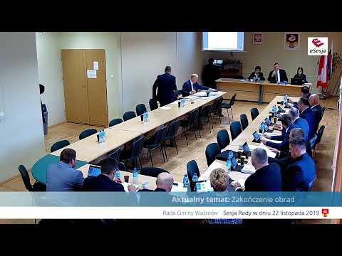 Część 2. XIV Sesja Rady Gminy W Waśniowie - 22.11.2019r.