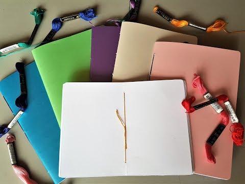 Como fazer sketchbook costurado