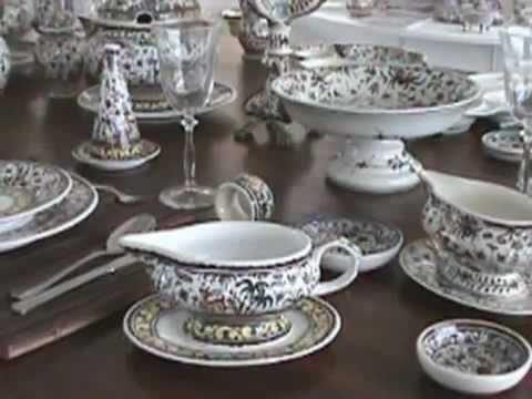 & Handmade Ceramic Dinnerware - Colors of Portugal - YouTube