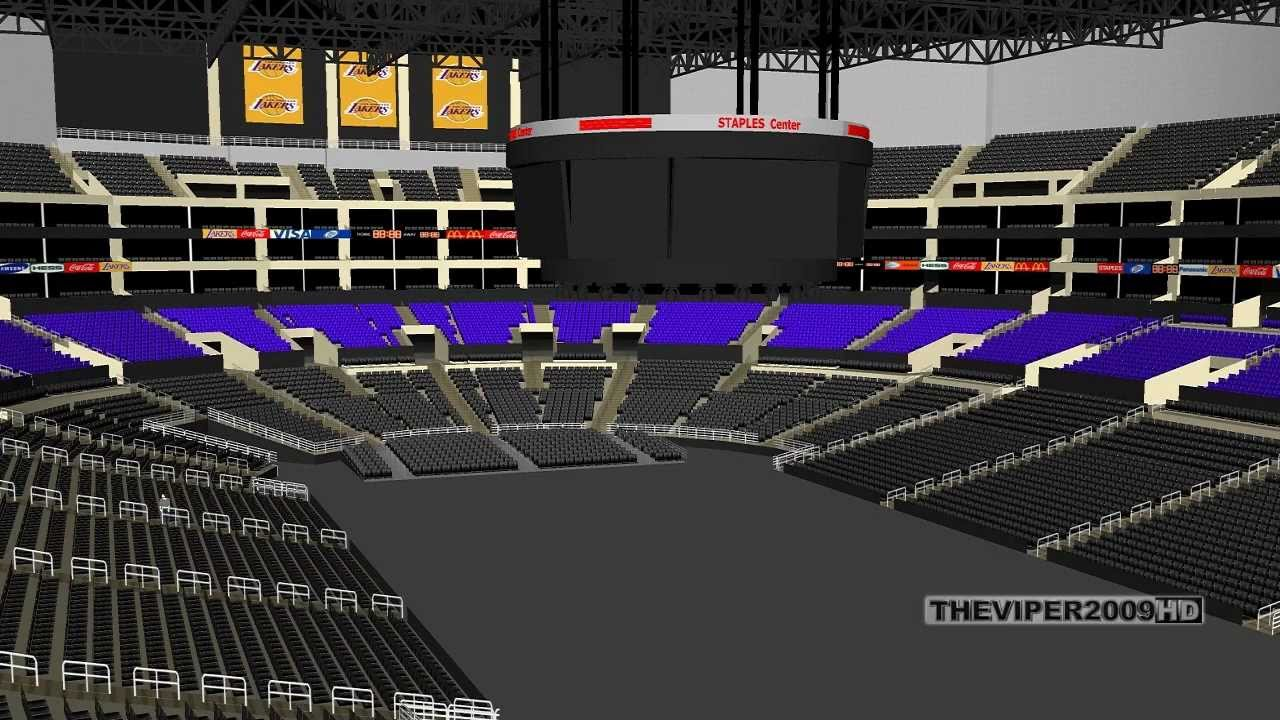 Staples Center 3d Seating Chart Concert La Clippers