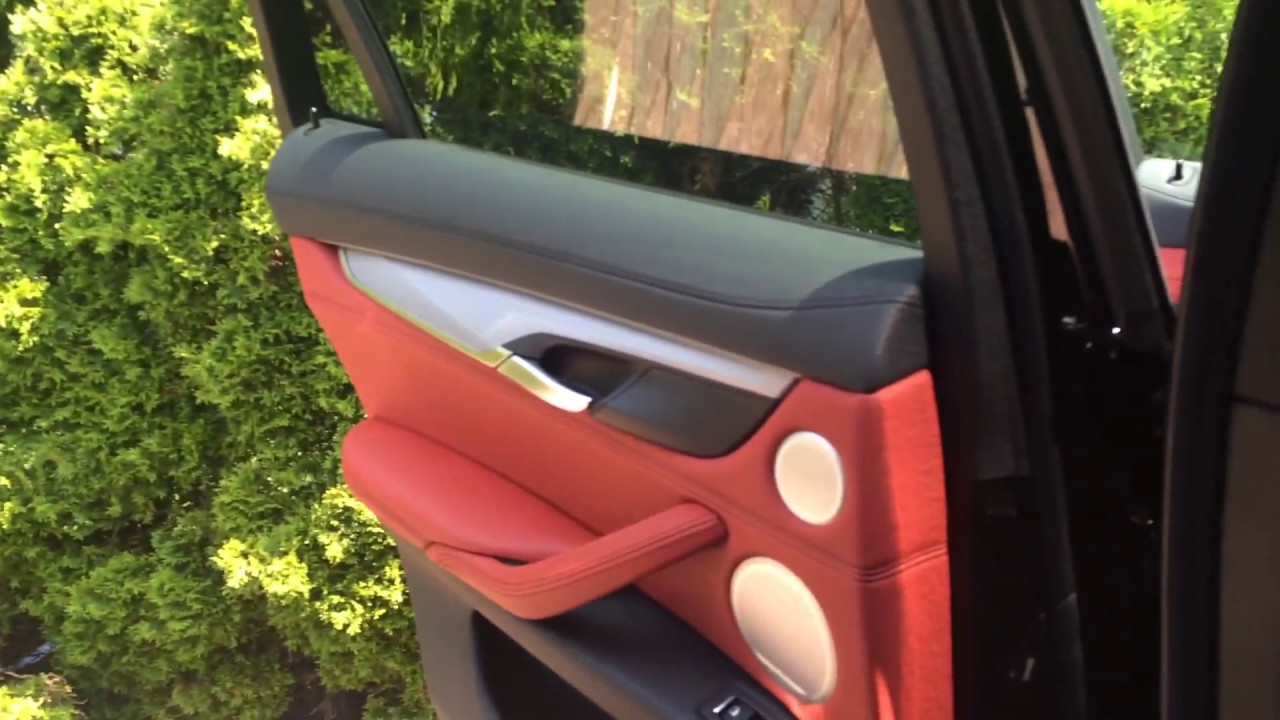 Bmw X6 Red Leather Interior Youtube
