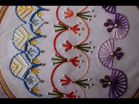 Hand Embroidery Designs   Basic embroidery stitches # Part 8   Stitch and Flower-98