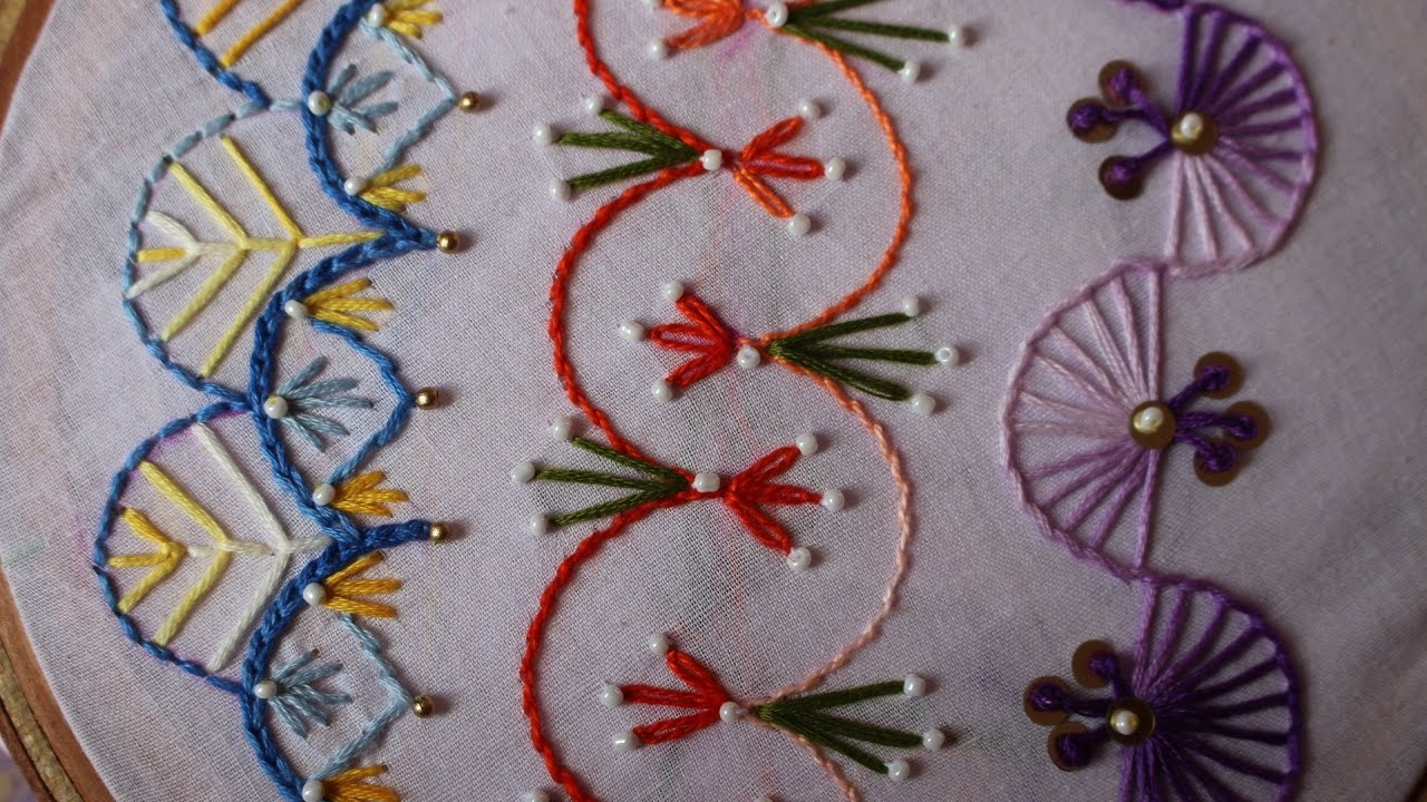 Hand embroidery designs basic stitches part