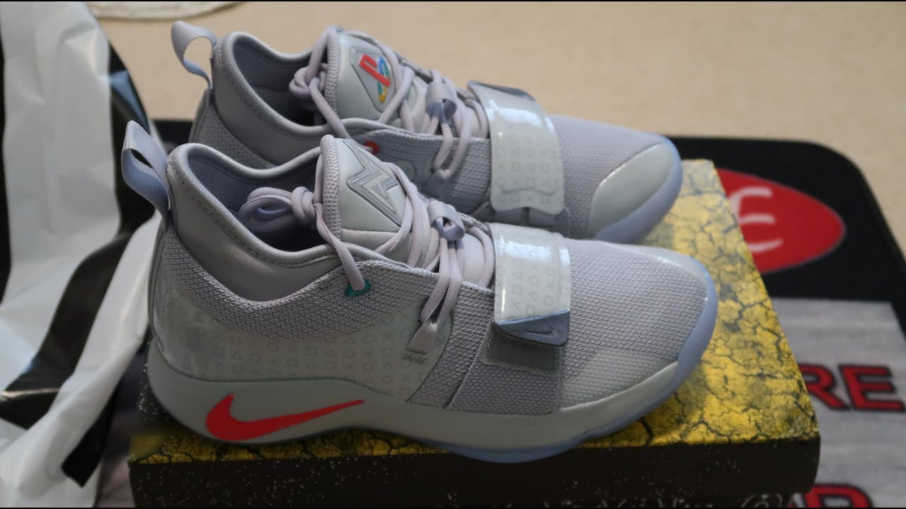 8ec14c39461a Nike PG 2.5 Playstation Wolf Grey Sneaker Unboxing - YouTube