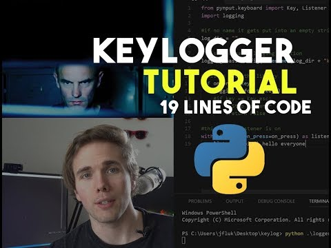 HOW TO MAKE A KEYLOGGER IN 19 LINES OF CODE - PYTHON TUTORIAL