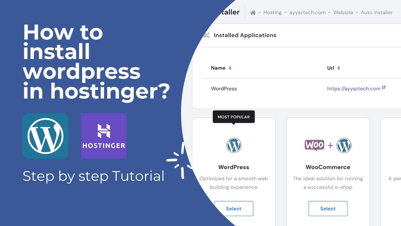 How to install Wordpress in Hostinger 2021?