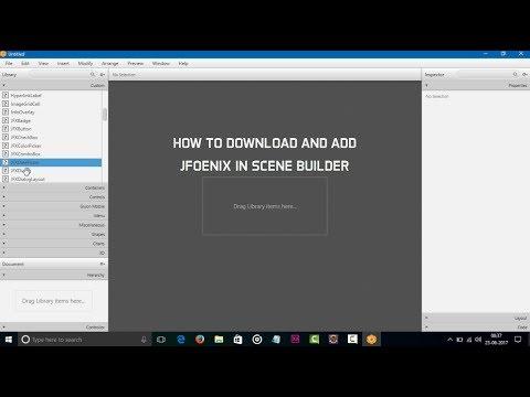 How to downlaod and add JFoenix in SceneBuilder