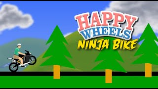 NINJA BIKE ON EM! [HAPPY WHEELS] [MADNESS!]