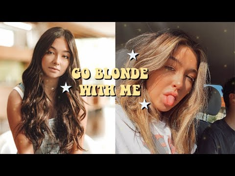 ✰ GO BLONDE WITH ME ✰ brunette to blonde hair transformation